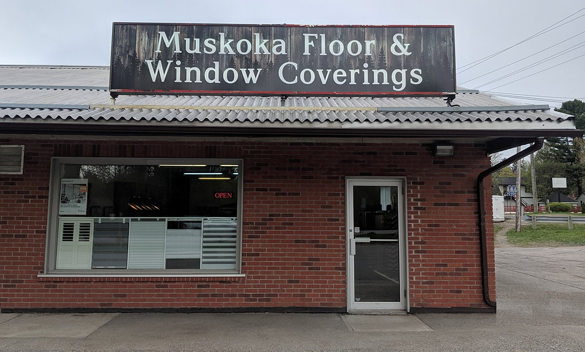 Muskoka Floor & Window Coverings Storefront -  Gravenhurst ON